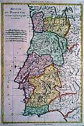 Antique map of Portugal