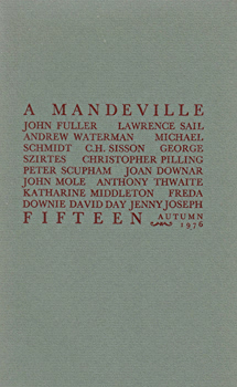 SCUPHAM, Peter, 1933-  & OTHERS : A MANDEVILLE FIFTEEN.