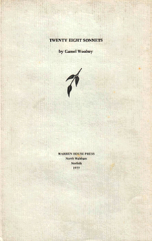 WOOLSEY, Gamel (Elizabeth Gammell), 1899-1968 : TWENTY EIGHT SONNETS.