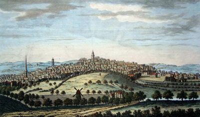 Antique print of Birmingham, Warwickshire