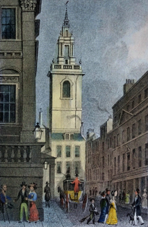 ANTIQUE PRINT: ST. STEPHEN WALBROOK.
