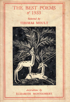 MOULT, Thomas, 1885-1974 – editor : THE BEST POEMS OF 1933.