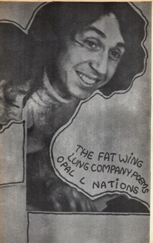 NATIONS, Opal L. (Opal Louis), 1941- : THE FAT WING LUNG COMPANY POEMS.
