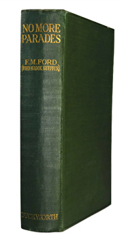 FORD, Ford Madox [formerly HUEFFER], 1873-1939 : NO MORE PARADES : A NOVEL.