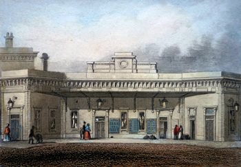 ANTIQUE PRINT: BRIGHTON RAILWAY STATION, LONDON BRIDGE.
