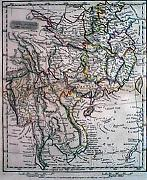 ANTIQUE MAP : CHINA, BIRMAH, AND ANAM.