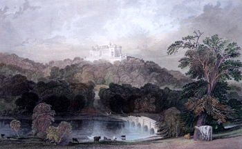 ANTIQUE PRINT: BELVOIR CASTLE, LEICESTERSHIRE. SEAT OF THE DUKE OF RUTLAND.