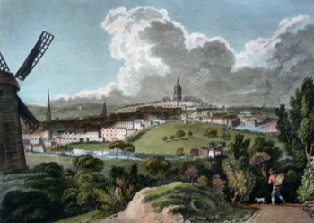 ANTIQUE PRINT: VIEW OF BIRMINGHAM.