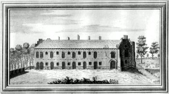 ANTIQUE PRINT: [EWELME] VIEW OF EWELM PALACE IN THE COUNTY OF OXFORD.