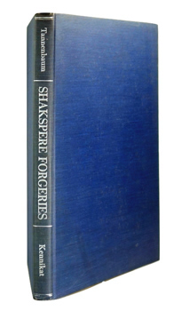 TANNENBAUM, Samuel A. (Samuel Aaron), 1873-1948 : SHAKSPERE FORGERIES IN THE REVELS ACCOUNTS.