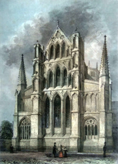 ANTIQUE PRINT: ELY CATHEDRAL. THE EAST END.