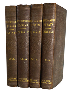 CARLYLE, Thomas, 1795-1891 : CRITICAL AND MISCELLANEOUS ESSAYS: COLLECTED AND REPUBLISHED.