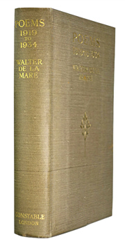 DE LA MARE, Walter (Walter John), 1873-1956 : POEMS : 1919 TO 1934.