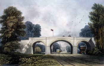 ANTIQUE PRINT: NEWTON ROAD STATION, NEAR BIRMINGHAM.