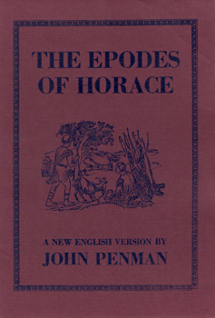 HORACE – [FLACCUS, Quintus Horatius, 65-8 BC] : THE EPODES OF HORACE.