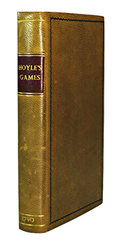 HOYLE'S GAMES IMPROVED;  BEING PRACTICAL TREATISES ON WHIST, QUADRILLE, PIQUET, CHESS, BACK-GAMMON, DRAUGHTS, CRICKET, TENNIS, QUINZE, HAZARD, LANSQUENET, BILLIARDS, AND GOFF OR GOLF ...