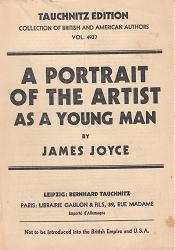 JOYCE, James, 1882-1941 : A PORTRAIT OF THE ARTIST AS A YOUNG MAN.