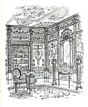 ENGLISH FURNITURE AT A GLANCE : WRITTEN AND ILLUSTRATED BY BARBARA JONES.