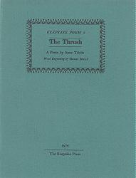 TIBBLE, Anne (Mabel Anne Northgrave), 1906-1980 : THE THRUSH.