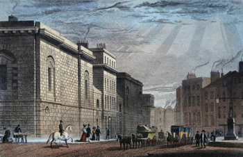 ANTIQUE PRINT: NEWGATE, OLD BAILEY.