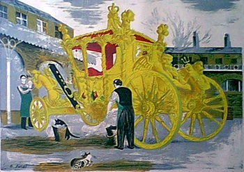 [PREPARATIONS FOR THE CORONATION : WASHING THE CORONATION COACH IN THE ROYAL MEWS].