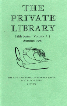 THE PRIVATE LIBRARY. FIFTH SERIES. VOLUME 2 : 3. AUTUMN 1999.