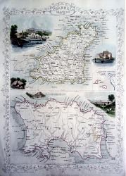 ANTIQUE MAP: CHANNEL ISLANDS.