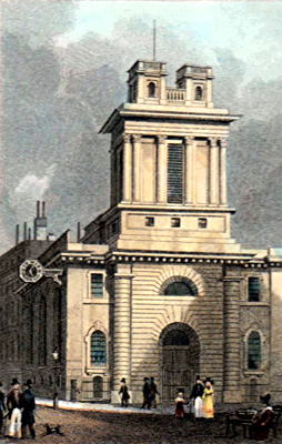 ANTIQUE PRINT: ST. MARY WOOLNOTH, LOMBARD ST.