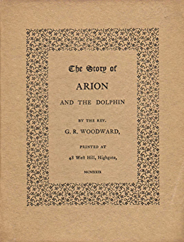 WOODWARD, G.R. (George Ratcliffe), 1848-1934 : THE STORY OF ARION AND THE DOLPHIN.