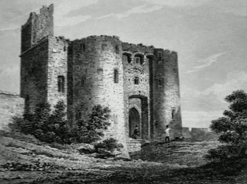 ANTIQUE PRINT: KIDWELLY CASTLE, CAERMARTHENSHIRE.