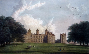 ANTIQUE PRINT: [BIRMINGHAM] ASTON HALL, WARWICKSHIRE.