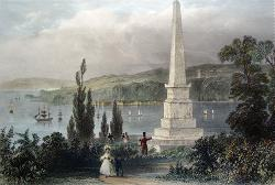 ANTIQUE PRINT: MONUMENT TO WOLFE AND MONTCALM, QUEBEC.