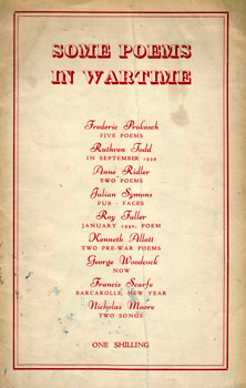 PROKOSCH, Frederic, 1908-1989 & OTHERS : [COVER TITLE] SOME POEMS IN WARTIME.