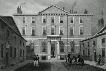 ANTIQUE PRINT: THE ALBANY, PICCADILLY.