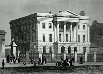 ANTIQUE PRINT: APSLEY HOUSE : THE TOWN RESIDENCE OF THE DUKE OF WELLINGTON.