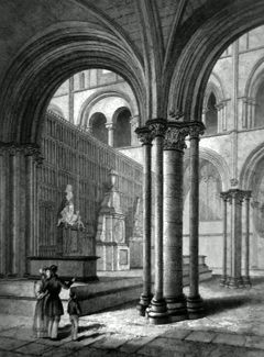 ANTIQUE PRINT: CHICHESTER CATHEDRAL. VIEW IN THE PRESBYTERY.