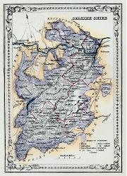 ANTIQUE MAP: SELKIRK SHIRE.
