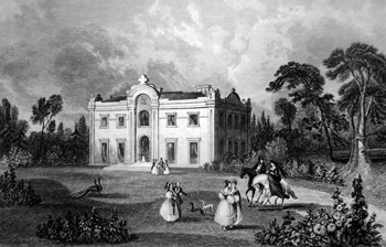 ANTIQUE PRINT: THEBERTON HOUSE. THE SEAT OF THOS. GIBSON ESQ. M.P. FOR IPSWICH.