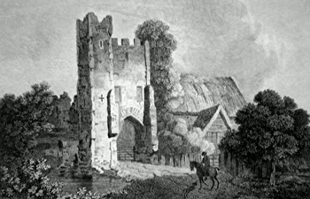 ANTIQUE PRINT: METTINGHAM CASTLE, SUFFOLK.