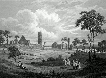 Antique print of County Offaly