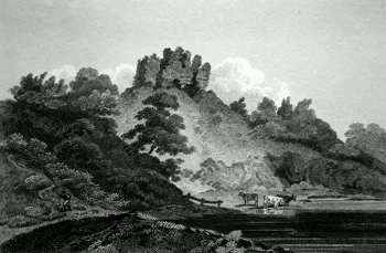 ANTIQUE PRINT: CLIFFORD CASTLE. HEREFORDSHIRE.