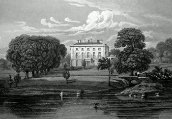 ANTIQUE PRINT: RODE HALL, CHESHIRE.