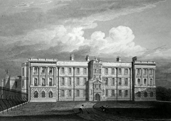 ANTIQUE PRINT: LYME HALL. NORTH FRONT. CHESHIRE.