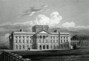 ANTIQUE PRINT: LYME HALL. CHESHIRE.