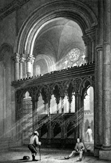 ANTIQUE PRINT: CANTERBURY CATHEDRAL. VIEW OF ST. ANSELM'S CHAPEL.