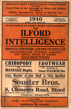 LEE, David C. – editor : THE ILFORD INTELLIGENCE (BOROUGH OF ILFORD RECORD, YEAR BOOK & STREET PLAN) : YEAR 1940.