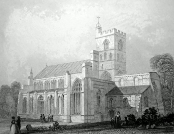ANTIQUE PRINT: CARLISLE CATHEDRAL. N. W. VIEW.