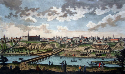 ANTIQUE PRINT: A VIEW OF MADRID THE CAPITAL OF SPAIN.