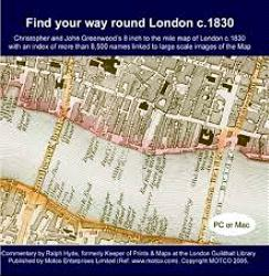 "ANTIQUE MAP: [SCREEN TITLE] CHRISTOPHER & JOHN GREENWOOD'S MAP : ""FIND YOUR WAY ROUND LONDON C.1830""."