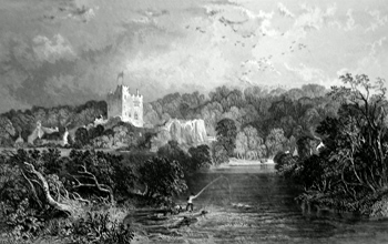 ANTIQUE PRINT: BOTHAL CASTLE, NORTHUMBERLAND.
